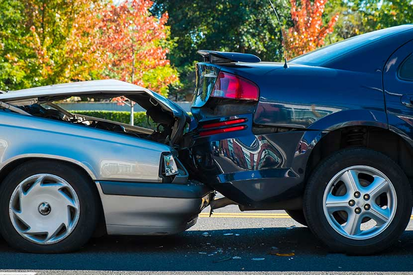 accidente entre coches sin seguro